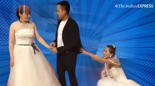 Bride left aghast after groom's ex-girlfriend crashes wedding in bridal gown, Beijing, News, Marriage, Religion, Humor, Social Network, Video, World, China