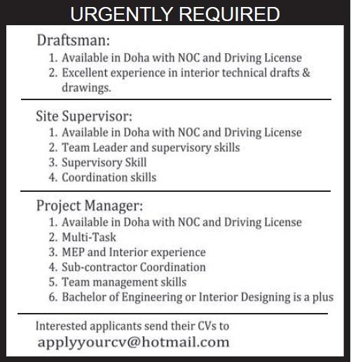 Interior Design Vacancies In Qatar Psoriasisgurucom