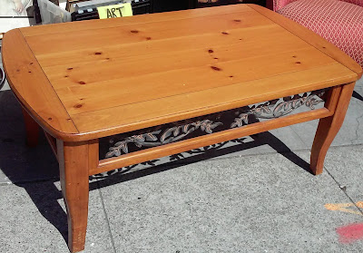 Uhuru Furniture Collectibles Sold Reduced 50 X 30 Knotty Pine Coffee Table 30