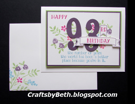 Crafts By Beth Birthday Card Shower