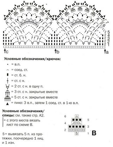 shema uzora kryuchok