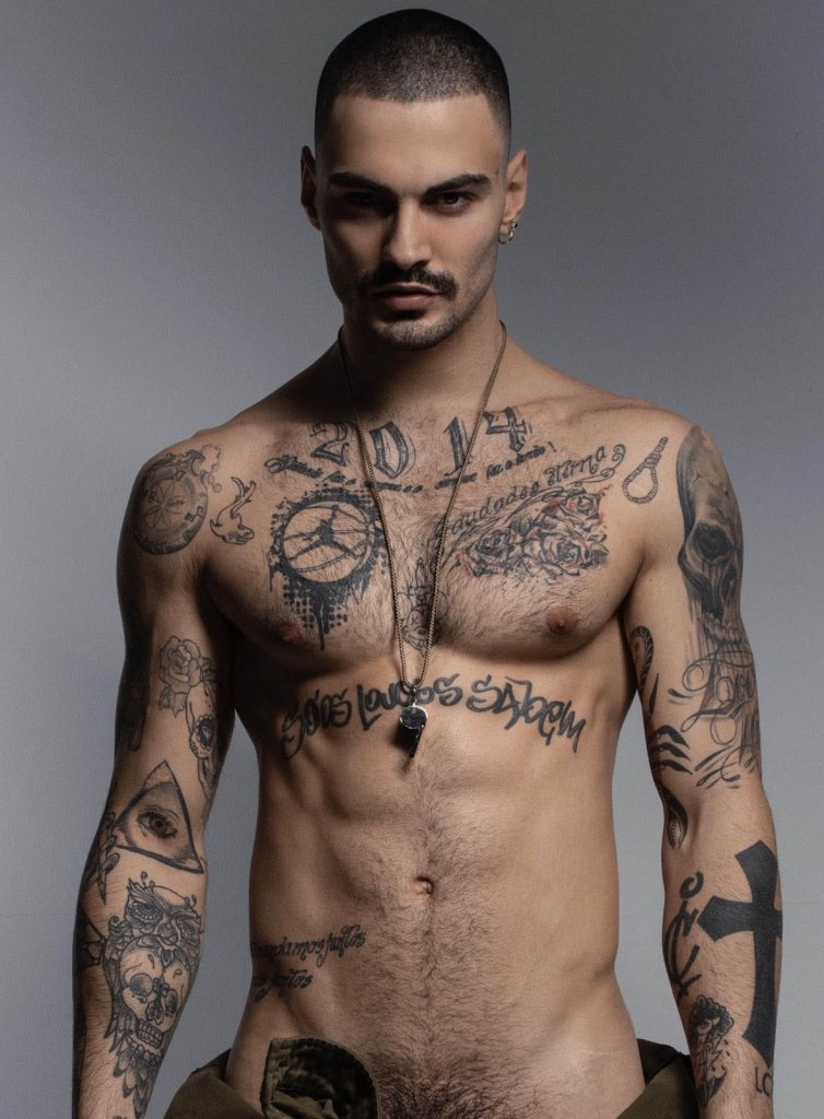 Tattoo Luis Coppini Shirtless by Rick Day