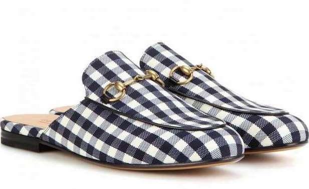zapatos con estampado vichy