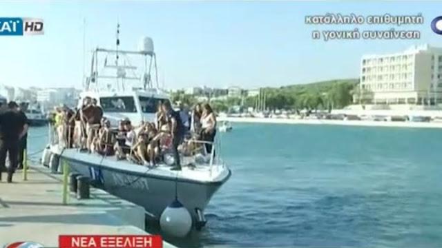 Πλοίο με 215 επιβάτες προσέκρουσε στο λιμενοβραχίονα της Ραφήνας