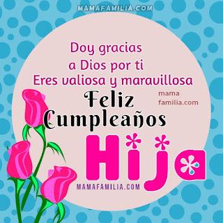 Feliz Cumpleaños Hija 6