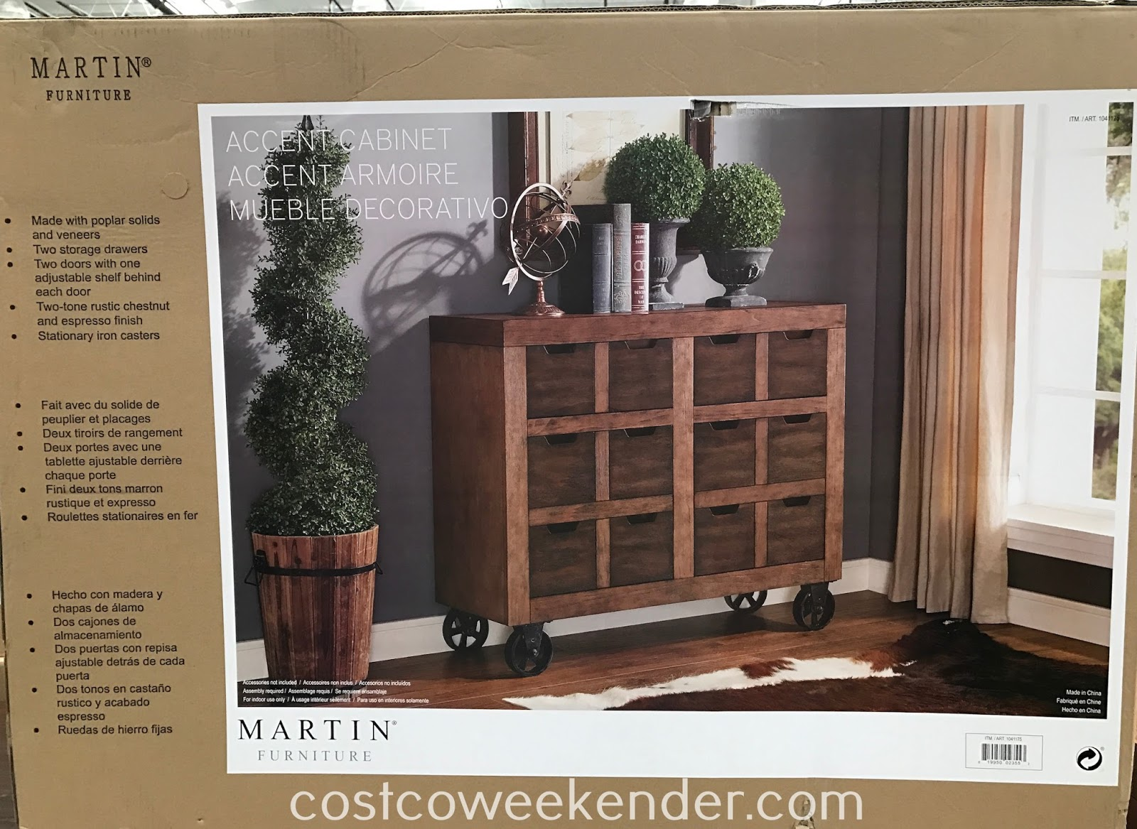 Costco 1041175 - Martin Furniture Accent Cabinet: So versatile that it feels at home just about anywhere