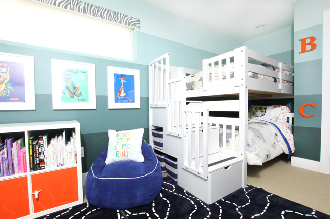 one room challenge} Shared Boys\' Bedroom Reveal   Blue i Style ...
