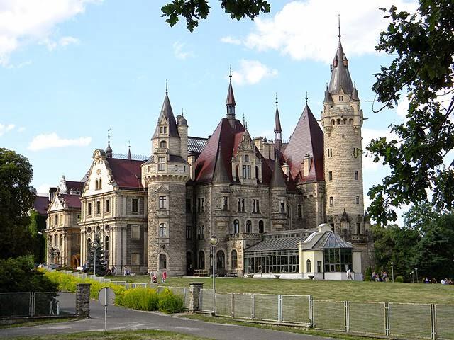 wieże, oranżeria, Opolszczyzna, perełki architektury