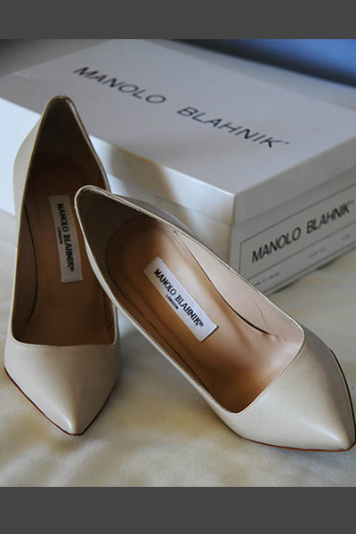 Zapato novia clásico Manolo Blahnik