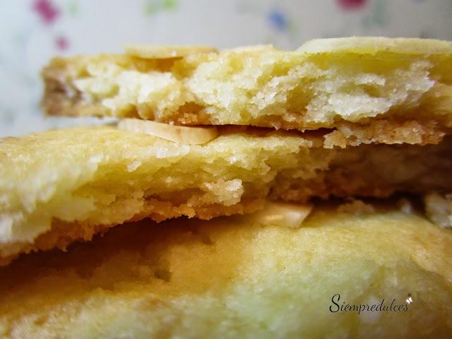 Pastas de coco y almendra (Siempredulces)