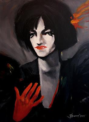 femme fatale Gemälde von olga david Acryl auf Leinwand