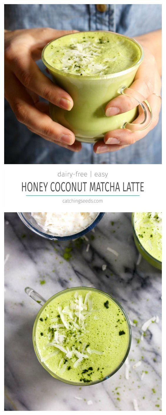 HONEY COCONUT MATCHA LATTE