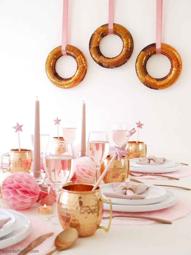 DIY Copper Christmas Wreath - Party Ideas | Party Printables Blog