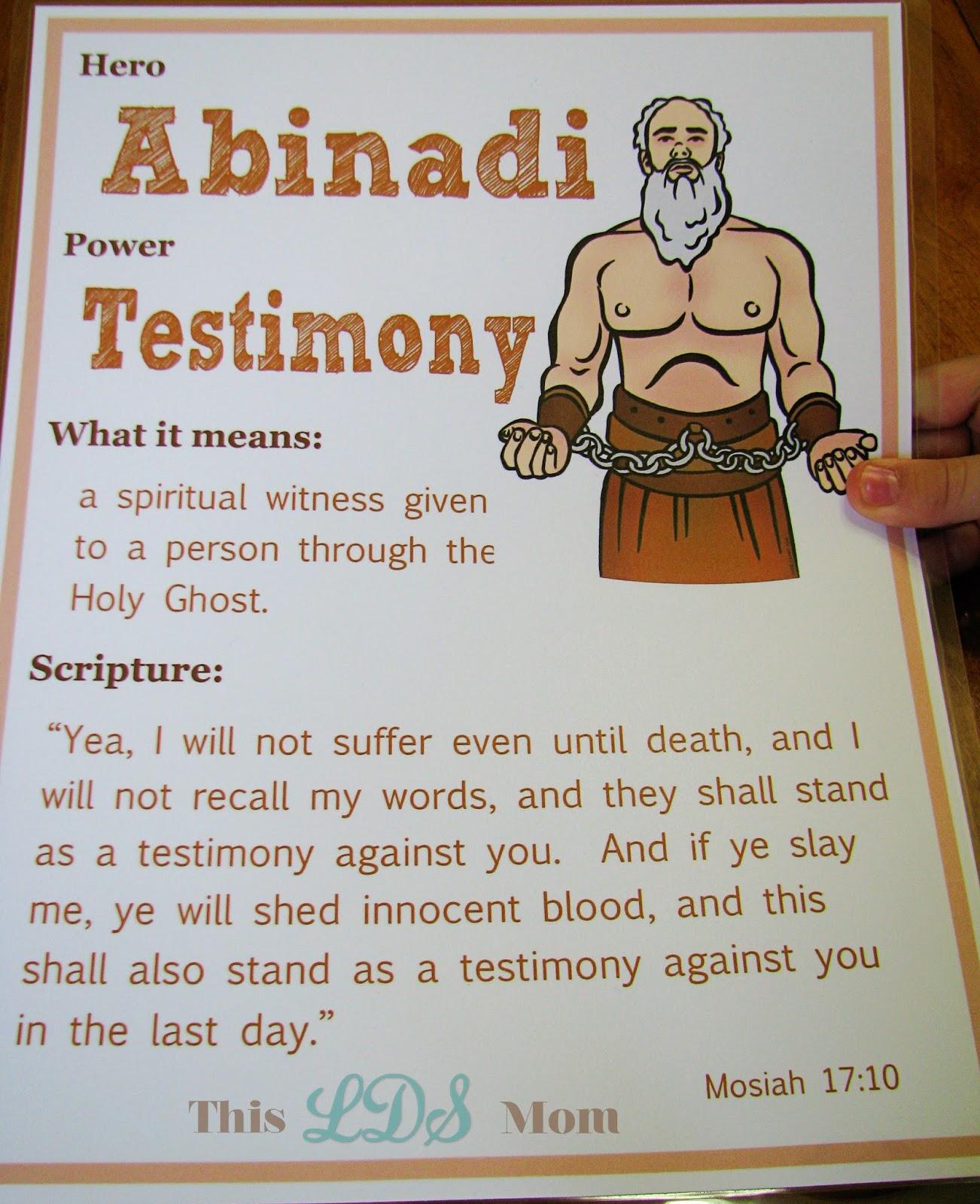 This LDS Mom: Scripture Heroes: Abinadi