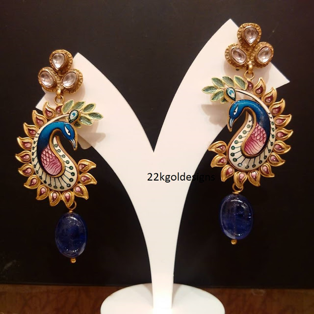 Peacock Design Jewellery Earrings