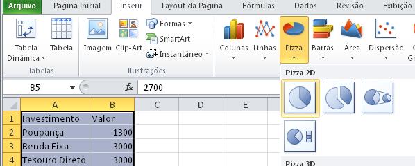 Gráfico de Queijo - Tutorial de Excel Para Iniciantes