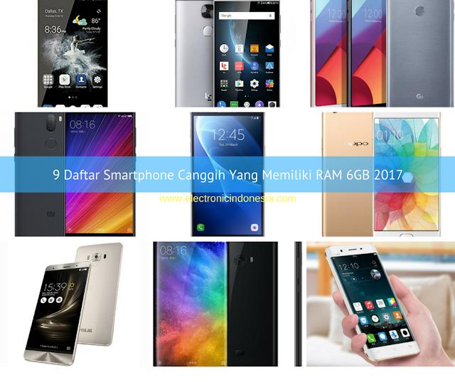 9 Daftar Smartphone Canggih Yang Memiliki RAM 6GB 2017