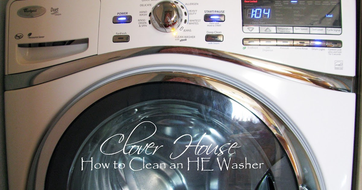 how to clean he washer with vinegar