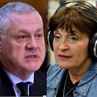 Procurorul DIICOT Robert Fleckhammer next to Gabriela Scraba, redactor șef al secției muzicale din SRR