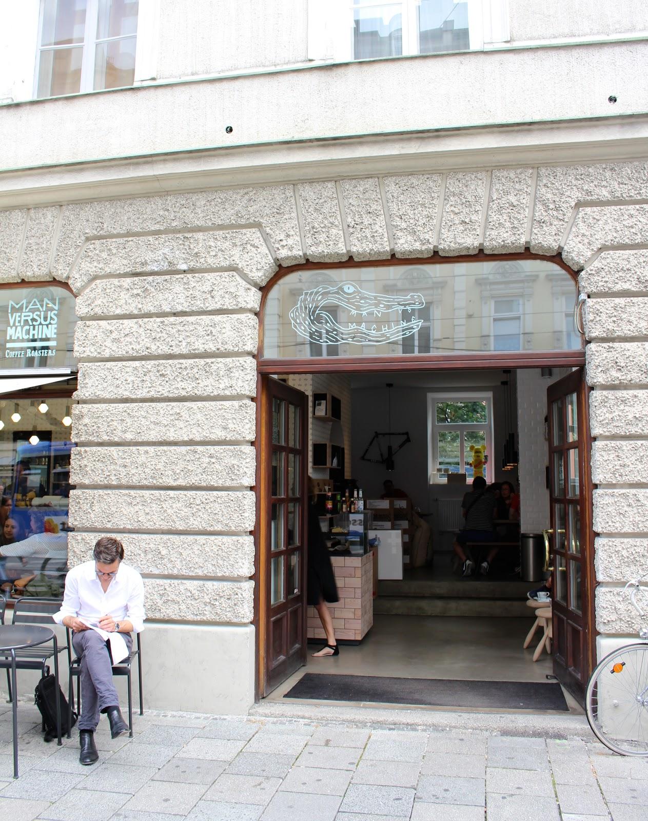 Man Versus Machine coffee Munich building