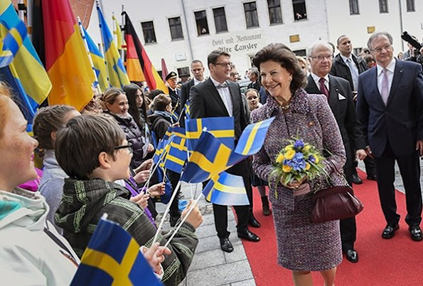 King Carl Gustaf, Queen Silvia visit Leipzig, Wittenberg, Saxony-Anhalt's Wittenberg, the city of Luther, wore dress