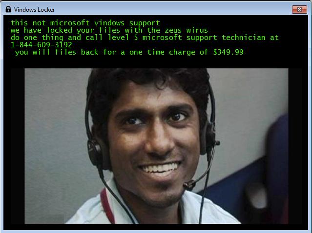 Vindows si spaccia per un supporto tecnico e chiede soldi per il recupero dei file