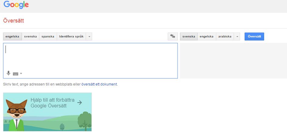 google översätt svenska till engelska