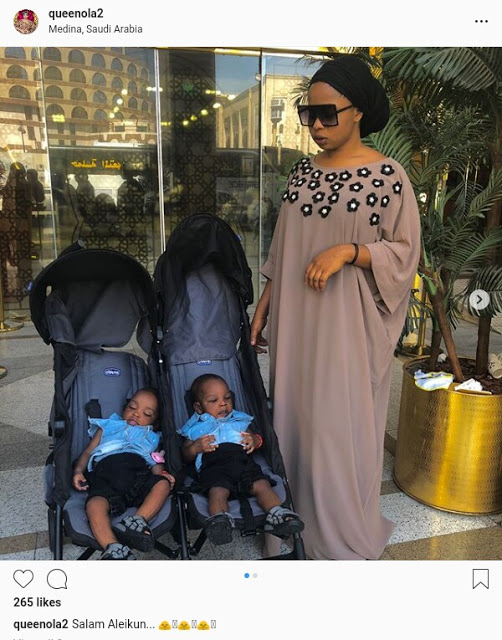 Alaafin of Oyo's young wives arrive Saudi Arabia with their sets of twins