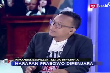 """Pendukung Jokowi-Ahok Imannuel Ebenezer Sebut Wisatawan"""" 212 Penghamba Uang dan Berharap Prabowo Masuk Penjara"""