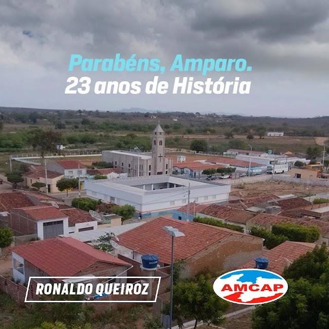 Presidente da AMCAP Ronaldo Queiroz Parabenizou Amparo pelos seus 23 anos de Emancipação Política