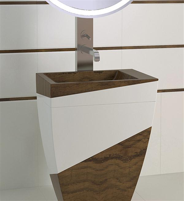Hogares frescos dise o minimalista en ba o moderno con for Diseno de muebles de madera modernos