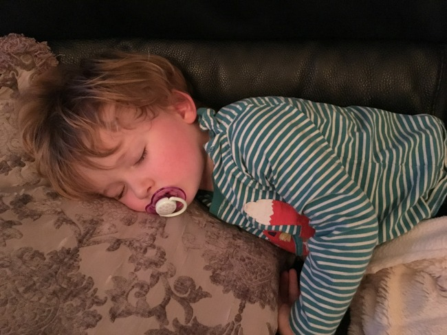 #MySundayPhoto-number-3-toddler-asleep-on-sofa