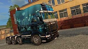 Night City skin for Scania RjL Longline