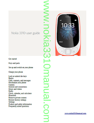 Nokia 3310 2017 User Manual PDF