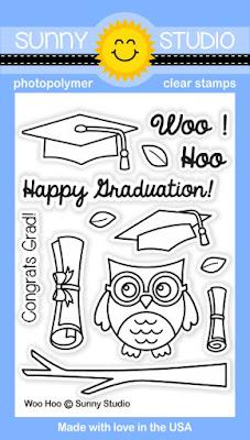 Sunny Studio Stamps: Woo Hoo Graduation owl stamp set