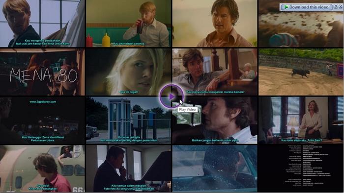 Screenshots Download Film Gratis American Made (2017) BluRay 480p MP4 Subtitle Indonesia 3GP Nonton Film Gratis Free Full Movie Streaming
