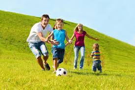 Playing soccer as a family
