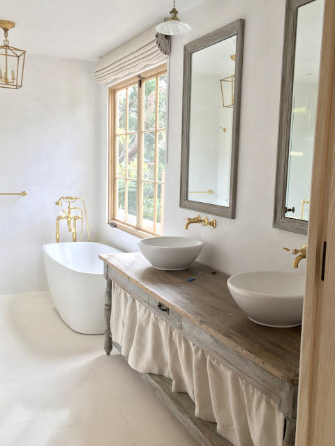 image result for bathroom in Malibu Mediterranean Modern Farmhouse Giannetti Home