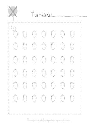 Caligrafia de números para imprimir