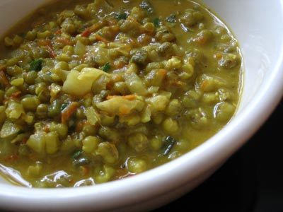Mung Bean and Coconut Milk Soup