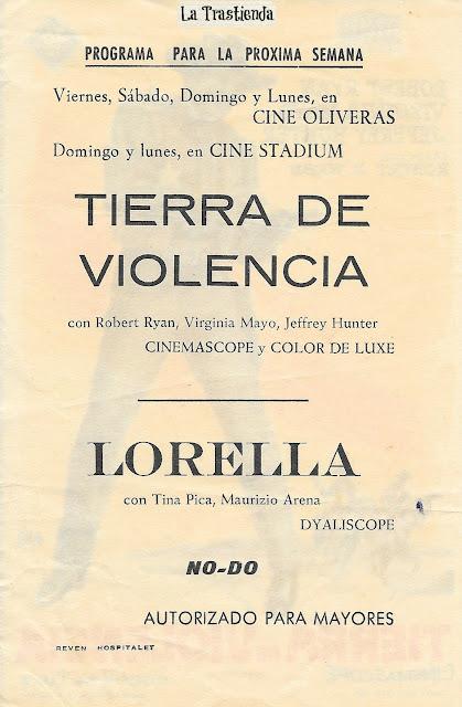 Tierra de Violencia - Programa de Cine - Robert Ryan - Virginia Mayo