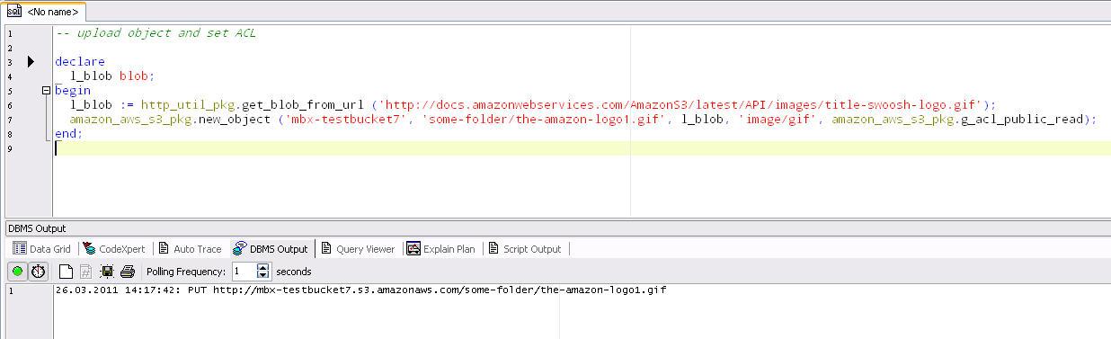 ORA-00001: Unique constraint violated: Amazon S3 API for PL/SQL