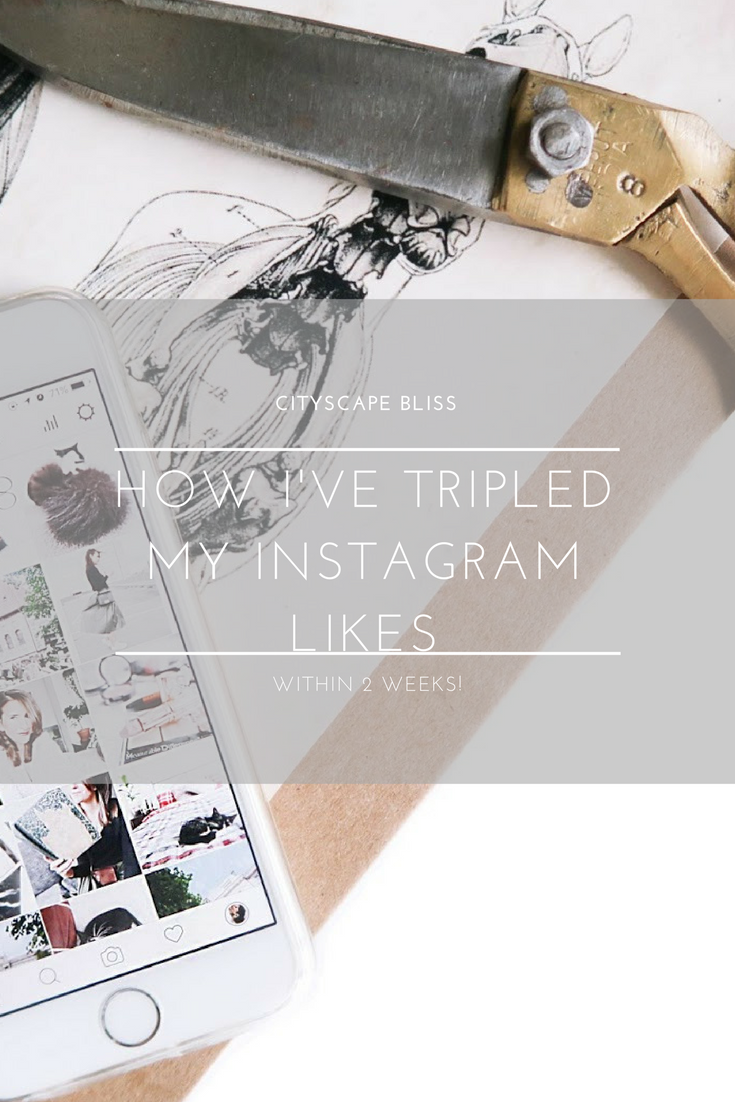 How I've tripled my Instagram likes (within 2 weeks!)