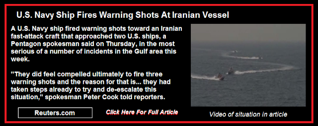 U.S. Navy Ship Fires Warning Shots At Iranian Vessel