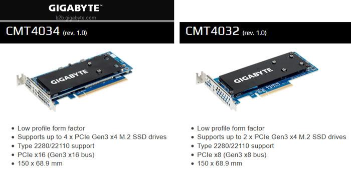 Gigabyte meluncurkan kartu PCIe Mendukung Hingga Empat M.2 SSD
