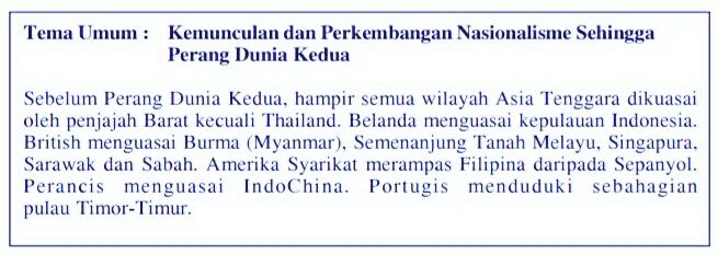 Tema umum sejarah kertas 3 SPM 2017
