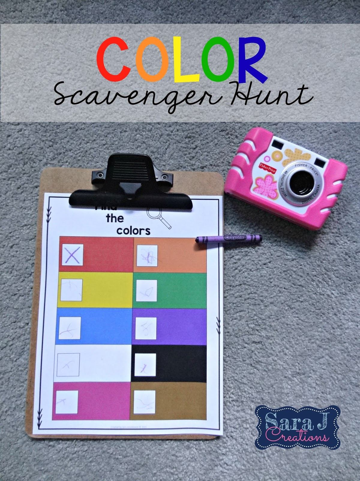 Sara J Creations Color And Shape Scavenger Hunt