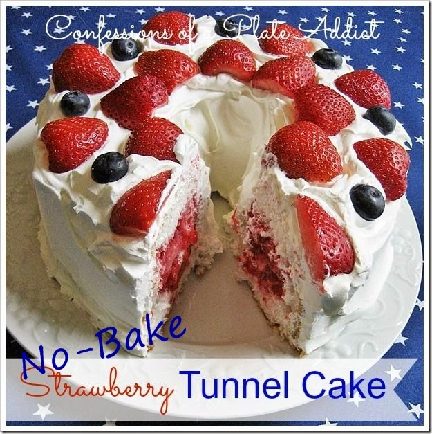 Easy No Bake Strawberry Tunnel Cake