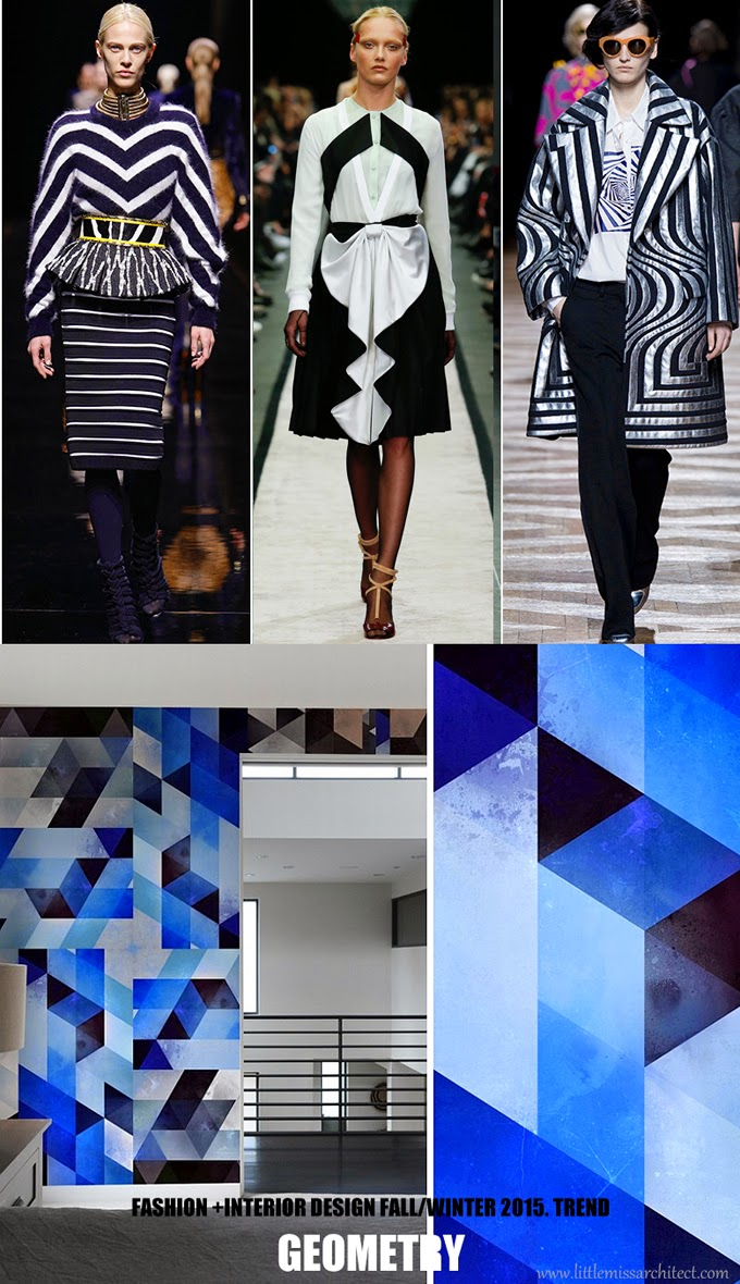 trendy wnętrza 2015, trendy wnętrzarskie 2015, wzory geometryczne