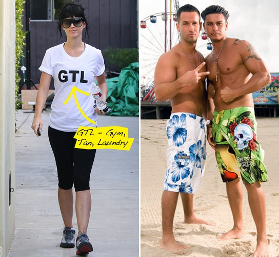 GTL Jersey Shore T-shirt as worn by Katy Perry